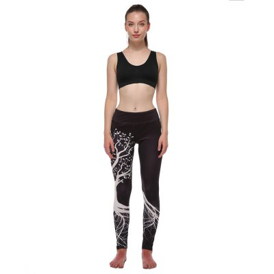 Digital Printing Yoga Pants Bird Fish Tree
