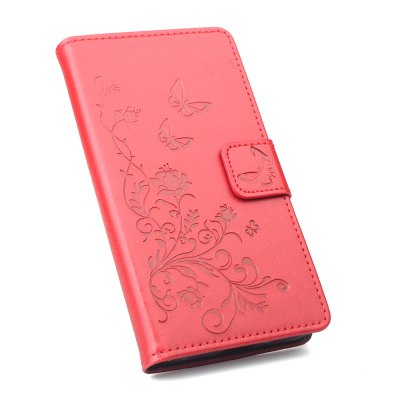 Buy Wallet Case for Xiaomi Redmi Note 4 Wallet PU Leather Case Mobile Phone Cover RED for $2.94 in GearBest store