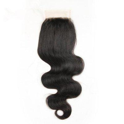 Brazilian Body Wave Lace Closure 4x4 Free Part 130percent Swiss Lace Remy Human Hair Closure