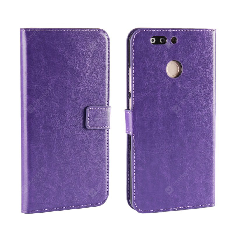 Pure Color Mad Horse Grain PU Funda de cuero para Huawei Honor V9