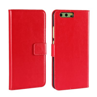 Pure Color Mad Horse Grain PU Leather Case for Huawei P10 Plus