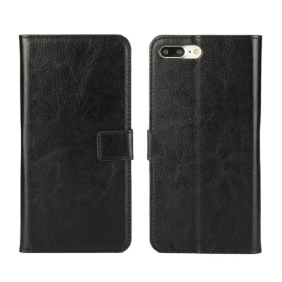Pure Color Mad Horse Grain PU Leather Case for iPhone 7 Plus / 8 Plus