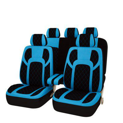 Car Pass Universal Blue Pu Leather Seat Covers
