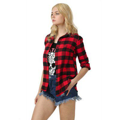 All-Match Plaid Long Shirt Sleeved Checkered ShirtBlouses<br>All-Match Plaid Long Shirt Sleeved Checkered Shirt<br><br>Collar: Turn-down Collar<br>Elasticity: Nonelastic<br>Fabric Type: Broadcloth<br>Material: Cotton<br>Package Contents: 1 xShirt<br>Pattern Type: Plaid<br>Shirt Length: Regular<br>Sleeve Length: Long Sleeves<br>Style: Casual<br>Weight: 0.3000kg