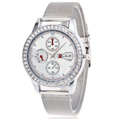 ZhouLianFa Fashionable Ladies Silver Steel Belt Diamond Luxury Quartz Watch