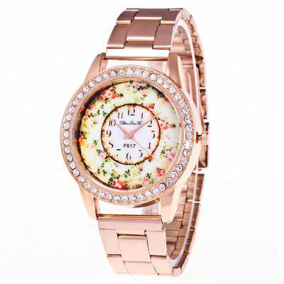 Buy ZhouLianFa Casual Fashion Luxury Steel Diamond Rose Gold Business Ladies Quartz Watch ROSE GOLD for $4.04 in GearBest store