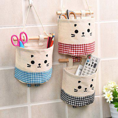 Cotton Single Pocket Bag Wall Hanging Pocket Door Hanging Holder Storage Bags Sundry Storage Bag