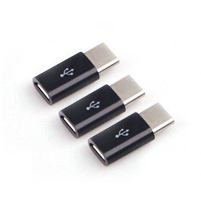 3pcs Micro USB to Type-C Adapter