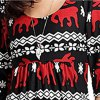 Christmas Reindeer Mini Dress without Necklace - RED