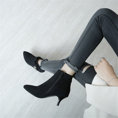 Miss Shoe A-530 Thin High Heel Zipper Bow and Ankle BootWomens Boots<br>Miss Shoe A-530 Thin High Heel Zipper Bow and Ankle Boot<br><br>Boot Height: Ankle<br>Boot Type: Fashion Boots<br>Closure Type: Zip<br>Gender: For Women<br>Heel Type: Stiletto Heel<br>Package Contents: 1xshoes(pair)<br>Pattern Type: Solid<br>Season: Winter<br>Toe Shape: Pointed Toe<br>Upper Material: Flock<br>Weight: 1.8304kg