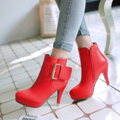 Miss Shoe 5-2 Fine High Heel Zipper Belt Buckle Fashion BootsWomens Boots<br>Miss Shoe 5-2 Fine High Heel Zipper Belt Buckle Fashion Boots<br><br>Boot Height: Ankle<br>Boot Type: Fashion Boots<br>Closure Type: Zip<br>Gender: For Women<br>Heel Type: Stiletto Heel<br>Package Contents: 1x shoes(pair)<br>Pattern Type: Striped<br>Season: Winter<br>Toe Shape: Round Toe<br>Upper Material: PU<br>Weight: 1.8304kg