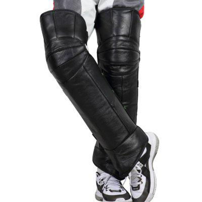 Cowhide Leather Windproof Motorcycle Protective Kneepad Guards Warm Legs Moto Driving Knee Protector