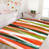 Living Room Door Mat Colorful Stripe Rectangle Shaped Washable Floor Mat - COLOR STRIPE