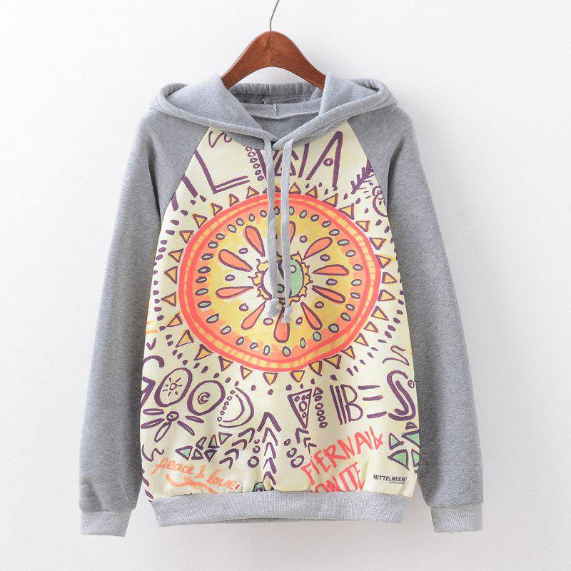 New Fashion Autumn and Winter Women Girl Ladies Long Sleeve Graphic Digital Printed Sportwear Loose Hooded Hoodies Casual Sport Pullover Sweatshirt Outerwear Blouse Tops ZT-G517 Letters Printing