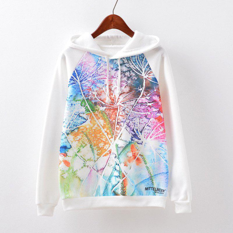 New Fashion Autumn and Winter Women Girl Ladies Long Sleeve Graphic Digital Printed Sportwear Loose Hooded Hoodies Casual Sport Pullover Sweatshirt Outerwear Blouse Tops ZT-G526 Dandelion Printing