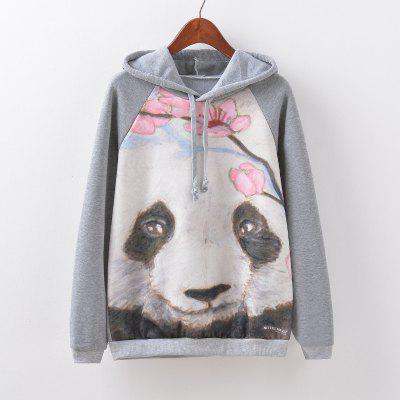 New Fashion Autumn and Winter Women Girl Ladies Long Sleeve Graphic Digital Printed Sportwear Loose Hooded Hoodies Casual Sport Pullover Sweatshirt Outerwear Blouse Tops ZT-G521 Floral Printing