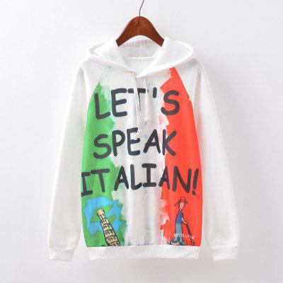 New Fashion Autumn and Winter Women Girl Ladies Long Sleeve Graphic Digital Printed Sportwear Loose Hooded Hoodies Casual Sport Pullover Sweatshirt Outerwear Blouse Tops ZT-G527 Letters Printing