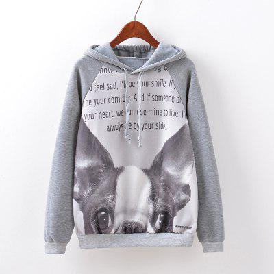 New Fashion Autumn and Winter Women Girl Ladies Long Sleeve Graphic Digital Printed Sportwear Loose Hooded Hoodies Casual Sport Pullover Sweatshirt Outerwear Blouse Tops ZT-G509 Letters Printing