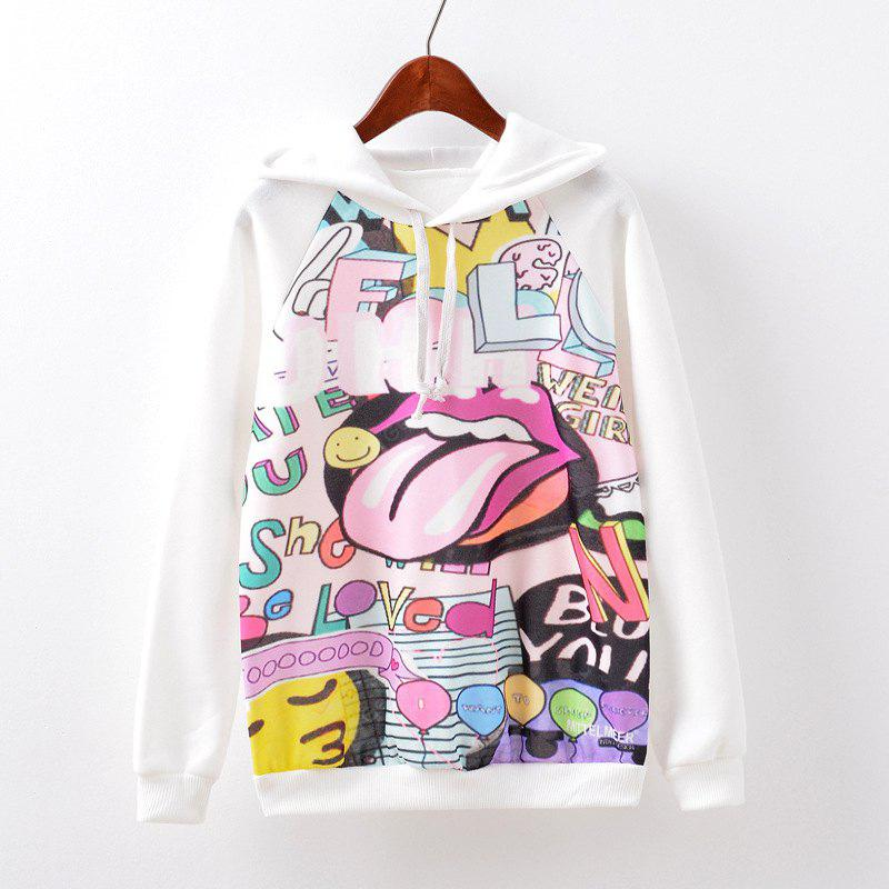 New Fashion Autumn and Winter Women Girl Ladies Long Sleeve Graphic Digital Printed Sportwear Loose Hooded Hoodies Casual Sport Pullover Sweatshirt Outerwear Blouse Tops ZT-G529 Letters Printing
