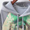 New Fashion Autumn and Winter Women Girl Ladies Long Sleeve Graphic Digital Printed Sportwear Loose Hooded Hoodies Casual Sport Pullover Sweatshirt Outerwear Blouse Tops ZT-G518 Person Printing - CINZA