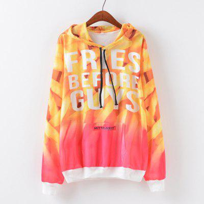 New Fashion Autumn and Winter Women Girl Ladies Long Sleeve Graphic Digital Printed Pocket Sportwear Loose Hooded Hoodies Casual Hip Hop Sport Pullover Sweatshirt Outerwear Blouse Tops ZT-G654 Letters