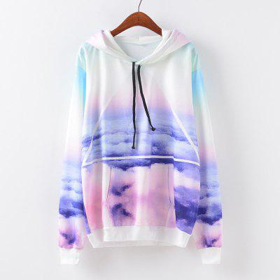 New Fashion Autumn and Winter Women Girl Ladies Long Sleeve Graphic Digital Printed Pocket Sportwear Loose Hooded Hoodies Casual Hip Hop Sport Pullover Sweatshirt Outerwear Blouse Tops ZT-G657 Geometr