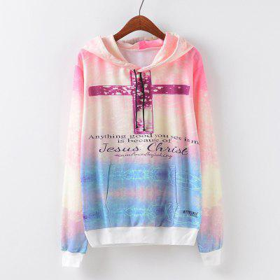 New Fashion Autumn and Winter Women Girl Ladies Long Sleeve Graphic Digital Printed Pocket Sportwear Loose Hooded Hoodies Casual Hip Hop Sport Pullover Sweatshirt Outerwear Blouse Tops ZT-G663 Letters