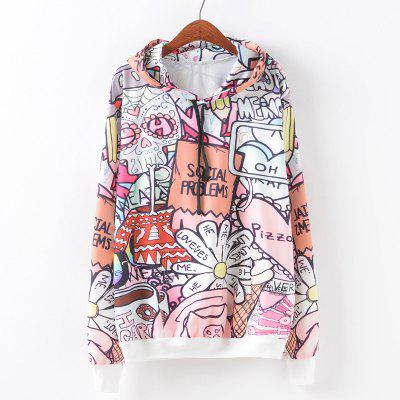 New Fashion Autumn and Winter Women Girl Ladies Long Sleeve Graphic Digital Printed Pocket Sportwear Loose Hooded Hoodies Casual Hip Hop Sport Pullover Sweatshirt Outerwear Blouse Tops ZT-G648 Letters