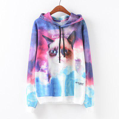 New Fashion Autumn and Winter Women Girl Ladies Long Sleeve Graphic Digital Printed Pocket Sportwear Loose Hooded Hoodies Casual Hip Hop Sport Pullover Sweatshirt Outerwear Blouse Tops ZT-G649 Letters