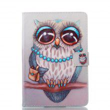 Owl Genuine Leather Case for iPad Mini 1 / 2 / 3 / 4 Case Flip PU Leather Cover Smart Stand / Holder Folio Case