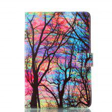 Color Tree Painting Ultrathin Luxury Genuine Leather Case for iPad Mini 1 / 2 / 3 / 4 Tablet PC Cover Case