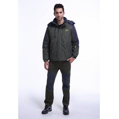Large Size Waterproof Jacket Outdoor Men and Women Winter Plus Velvet Padded WarmthMens Jackets &amp; Coats<br>Large Size Waterproof Jacket Outdoor Men and Women Winter Plus Velvet Padded Warmth<br><br>Closure Type: Zipper<br>Clothes Type: Down &amp; Parkas<br>Colors: Army green<br>Detachable Part: Hat Detachable<br>Hooded: Yes<br>Materials: Plush, Down, Cotton<br>Package Content: 1?coat<br>Package size (L x W x H): 1.00 x 1.00 x 1.00 cm / 0.39 x 0.39 x 0.39 inches<br>Package weight: 1.0000 kg<br>Size1: M,L,XL,4XL,2XL,3XL,5XL