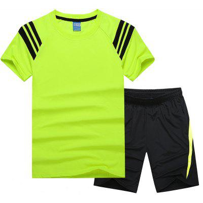 MenS Sportswear Cotton Shorts T-Shirt Fitness Running Basketball WearSports Clothing<br>MenS Sportswear Cotton Shorts T-Shirt Fitness Running Basketball Wear<br><br>Elasticity: Elastic<br>Material: Cotton, Polyester, Spandex<br>Package Contents: 1xT shirt , 1x Short pant<br>Pattern Type: Others<br>Weight: 0.5000kg