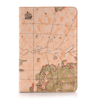 Top Armor Map Design Ultra delgado elegante funda de cuero para iPad Mini 3/2/1