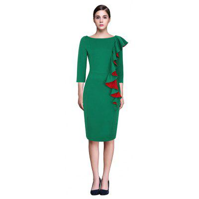 European and American Fashion Sexy Collar Style Jumpsuit Pencil Dresses Occupation