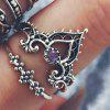 Buy 10 Pcs/set Gold Silver Bohemian Fatima's Hand Spiral Diamond Gem Finger Knuckle Rings Jewelry Gift GOLD