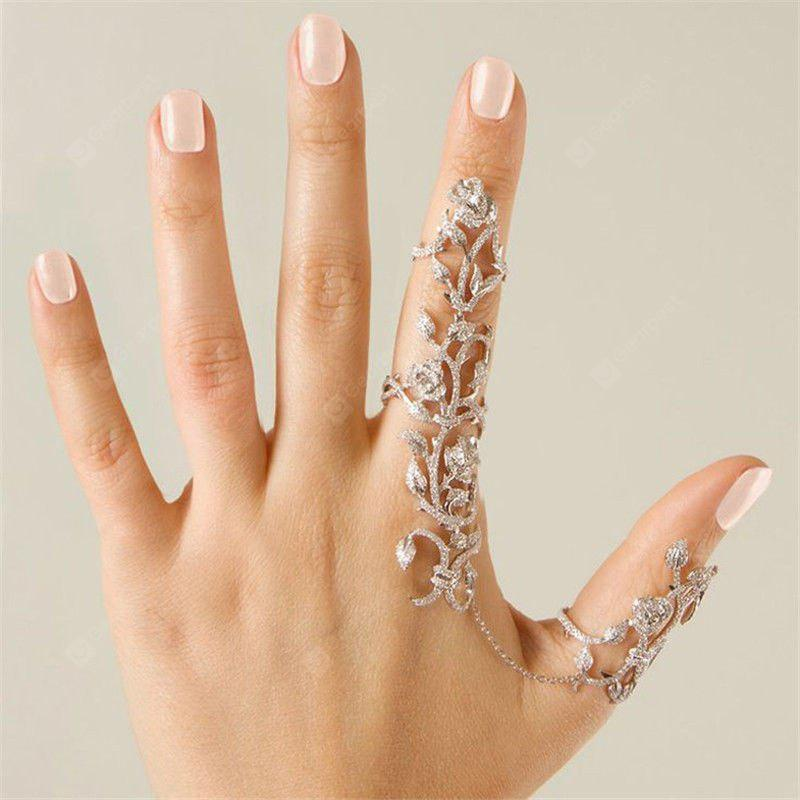Rings Multiple Finger Stack Knuckle Band Crystal Set Womens Fashion Jewelry
