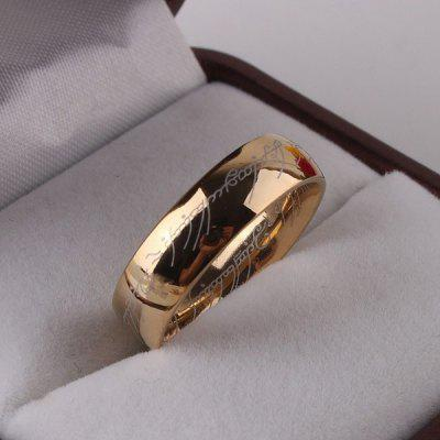 Fashion Jewelry The Lord of The Rings for Men 18K Gold Plating Stainless Steel Ring for Mens Titanium RingJewelry Sets<br>Fashion Jewelry The Lord of The Rings for Men 18K Gold Plating Stainless Steel Ring for Mens Titanium Ring<br>
