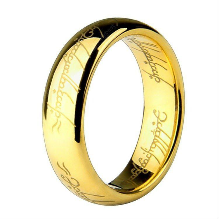 Fashion Jewelry The Lord of The Rings for Men 18K Gold Plating Stainless Steel Ring for Mens Titanium Ring