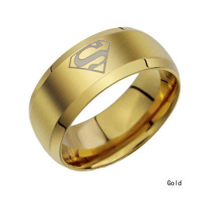 2015 Fashion Jewelry Simple Men Ring Superman Logo Finger Rings 3 ColorsJewelry Sets<br>2015 Fashion Jewelry Simple Men Ring Superman Logo Finger Rings 3 Colors<br>