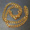 18-30 inches European Fashion Luxury Exaggerated Men Women Gold Chain Necklace 6mm Exquisite Sideways Chain Wedding Jewelry Party Gifts - AS THE PICTURE