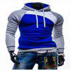 Spring and Autumn Hooded Head Men'S Leisure Sweater Coat - BLUE