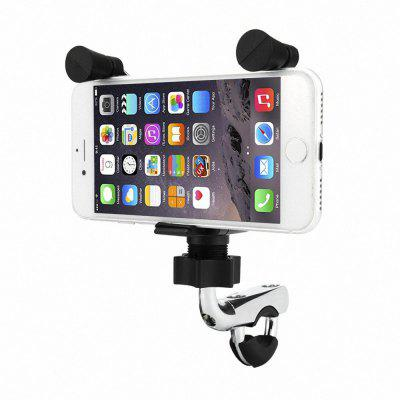 Motorcycle Handlebar  K-Style  Harley Phone Holder with Chrome Coated Base and USB Charger for iPhone Samsung GPS