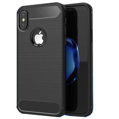 Carbon Fiber TPU Soft Cover for iPhone X