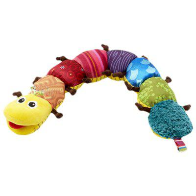 Cute Caterpillar Plush Doll with Ring Bell Early Learning Educational Kids Toy
