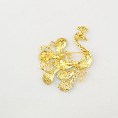 High-grade Brooches Multicolor Rhinestone Green Peacock Brooch Wedding Pins Fine Jewelry от GearBest.com INT