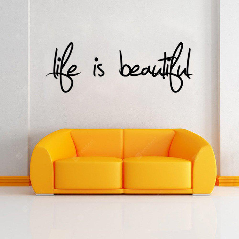 DSU Life Is Beautiful Quote Wall Sticker Home Decor Easy Art Decal