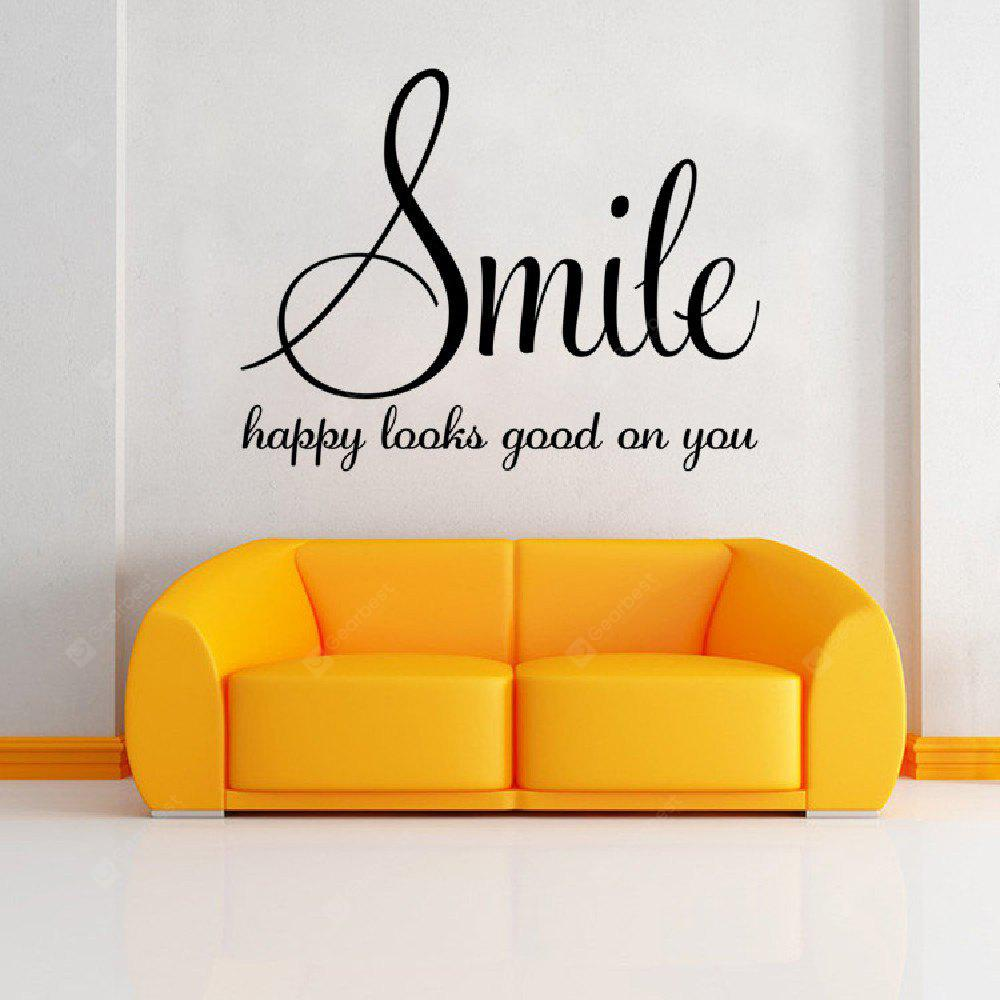DSU Wall Sticker Quote Smile Decor For Kids Rooms Cute Nursery Bedroom