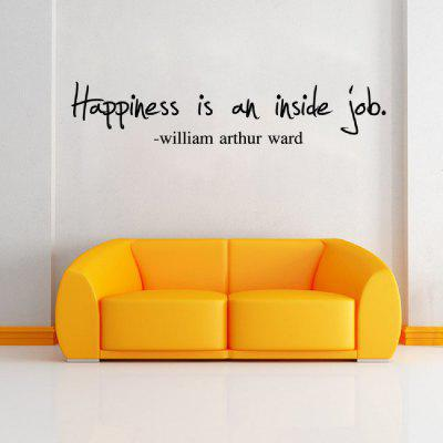 DSU Vinyl Decor Happiness is inside job Wall Sticker Home Decor for Living Room Art Mural