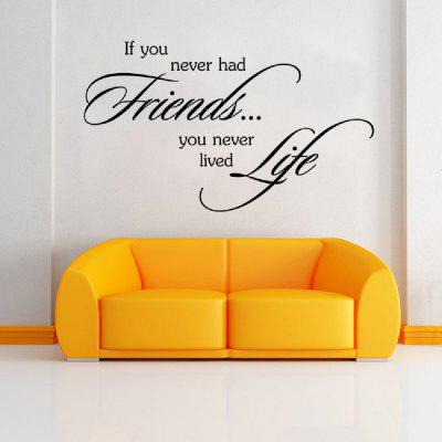 DSU Friends are Very Important in Our Lives as Part Famous Words Wall Sticker